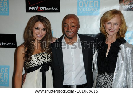 "Chrishell Stause and JR Martinez and Jill Larson  at the ""Peace Over Violence"" 39th Annual Humanitarian Awards, Beverly Hills Hotel, Beverly Hills, CA. 10-29-10"