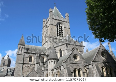 Christ Church Cathedral (Holy Trinity) in Dublin, Ireland. #1157073067