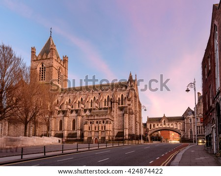Christ Church Cathedral is located in Dublin Ireland. #424874422