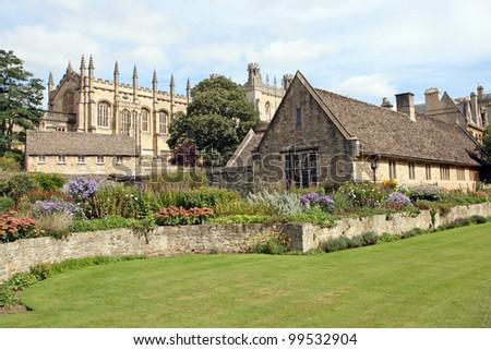 Christ Church College War Memorial Garden. Oxford, the UK