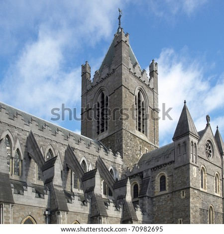 Christ Church, Dublin - ancient gothic cathedral architecture