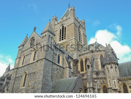 Christ Church in Dublin, gothic architecture style