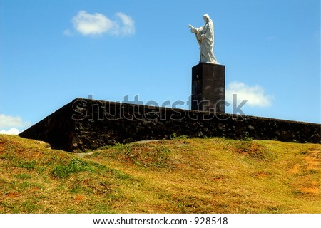 Christ Hill Statue - stock photo