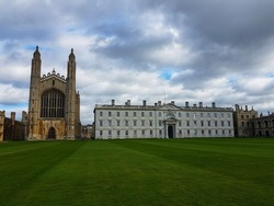 Christ's College, Cambridge from the River Cam
