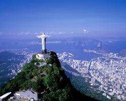 christ statue aerial fotograph