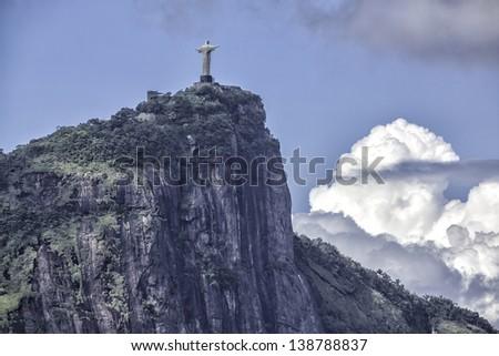Christ the Redeemer in clouds,  Rio de Janeiro,Brazil