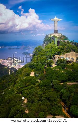 Christ the Redeemer statue on the top of a mountain, Rio De Janeiro, Brazil Stock photo ©