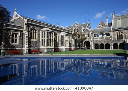 Christchurch Arts Centre - old landmarks in Christchurch, New Zealand