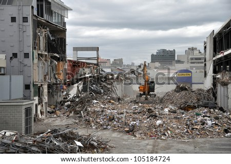 CHRISTCHURCH, NEW ZEALAND - APRIL 01: A view of the southern Christchurch Central Business District (CBD) after the devastating earthquake on April 01, 2011 in Christchurch.