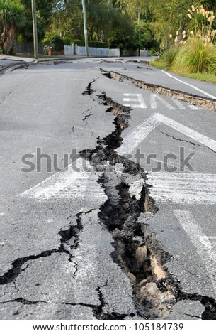 CHRISTCHURCH, NEW ZEALAND - FEBRUARY 24: The streets of Avonside are shaken to pieces by the latest and most devastating earthquake on February 24, 2011 in Christchurch.