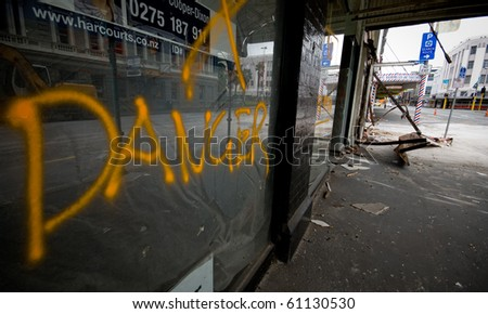 CHRISTCHURCH, NEW ZEALAND - SEPT 9: Widespread damage is caused by a 7.1 magnitude earthquake that struck on 4 September. Strong aftershocks continue. 9 September 2010 in Christchurch, New Zealand