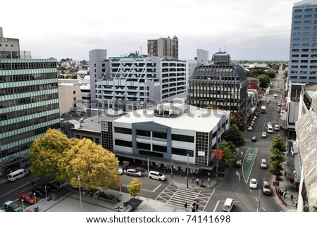 Christchurch, New Zealand - urban cityscape with modern architecture. Central City.