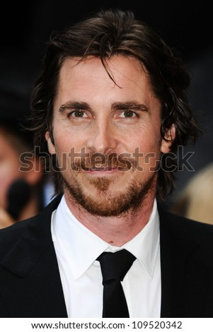 "Christian Bale arriving for European premiere of ""The Dark Knight Rises"" at the Odeon Leicester Square, London. 18/07/2012 Picture by: Steve Vas / Featureflash - stock photo"
