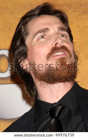 Christian Bale at the 17th Annual Screen Actors Guild Awards Press Room, Shrine Auditorium, Los Angeles, CA. 01-30-11