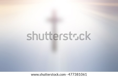 Christian cross blur background