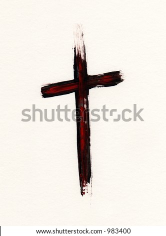 Christian, cross, crucifix, painted, grungy,