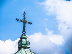 Christian Cross on the roof