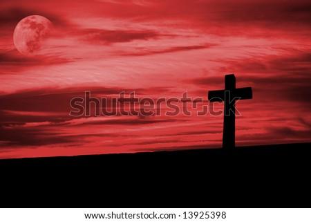 christian cross silhouette faith symbol