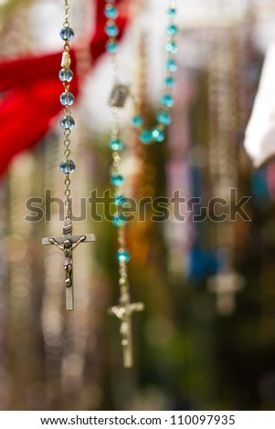 Christian crosses with image of Jesus
