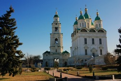 Christian Orthodox Cathedral in the Astrakhan Kremlin