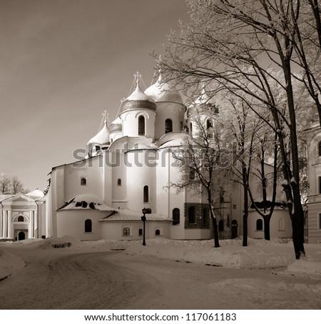 christian orthodox church, sepia