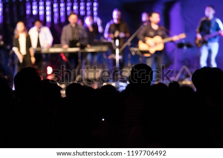 Christian raised and for joyful and worship  in christian concert #1197706492