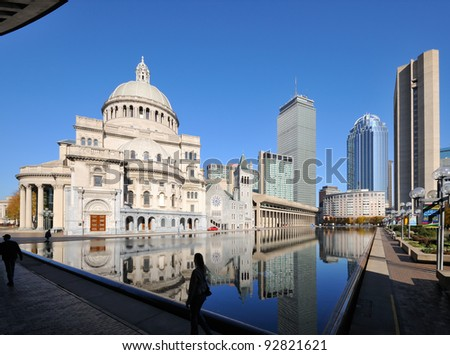 Christian Science Plaza and Prudential Center in Boston