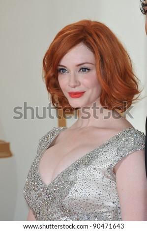 Christina Hendricks arriving at the 2011 Primetime Emmy Awards at the Nokia Theatre, L.A. Live in downtown Los Angeles. September 18, 2011  Los Angeles, CA Picture: Paul Smith / Featureflash