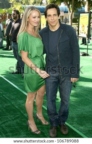 Christine Taylor and Ben Stiller  at the Los Angeles Premiere of 'Madagascar Escape 2 Africa'. Mann Village Theatre, Westwood, CA. 10-26-08