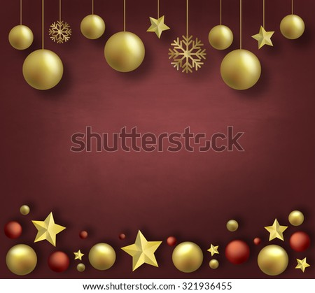 Christmas abstract background illustration #321936455