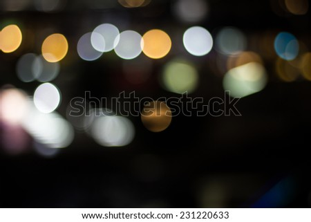 Christmas abstract background with bokeh lights