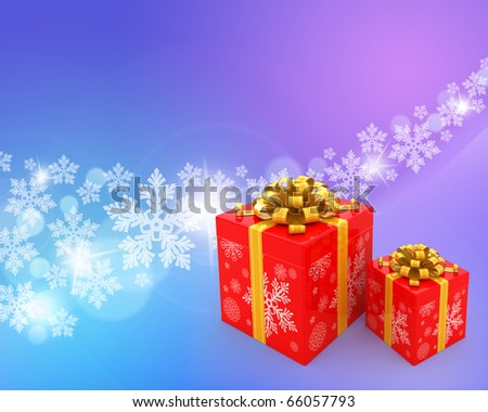 Christmas abstract background with gift boxes