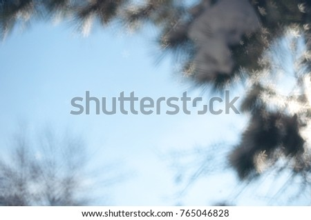 Christmas abstract bokeh background with snow flakes. #765046828