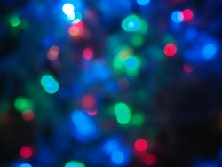 Christmas and Happy new year on blurred bokeh abstract background.and color full.