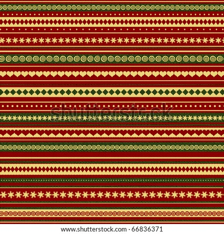 Christmas and New Year colored seamless pattern