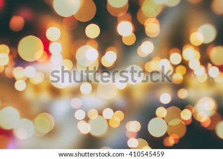 Christmas and New Year feast bokeh background  #410545459