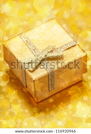 Christmas and New Year Gold Gift