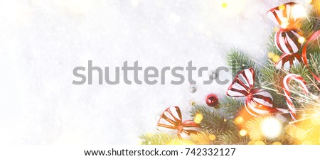Christmas and New Year holiday background  #742332127