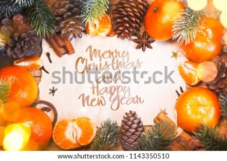 Christmas and New Year holidays background - Shutterstock ID 1143350510