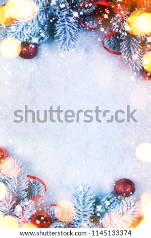 Christmas and New Year holidays background #1145133374