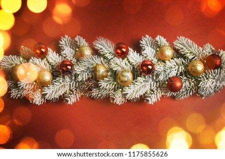 Christmas and New Year holidays background #1175855626