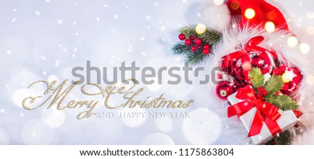 Christmas and New Year holidays background  #1175863804