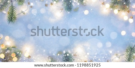 Christmas and New Year holidays background  #1198851925