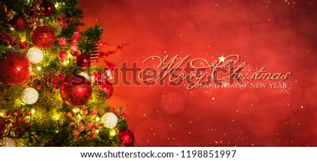Christmas and New Year holidays background  - Shutterstock ID 1198851997