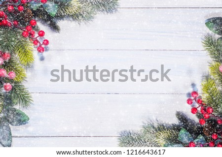 Christmas and New Year holidays background #1216643617