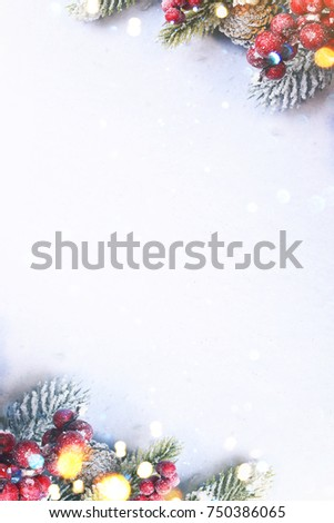 Christmas and New Year holidays background #750386065