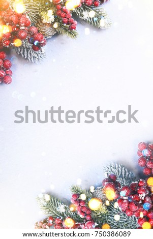 Christmas and New Year holidays background #750386089