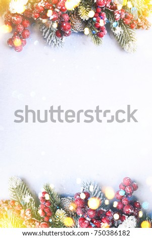 Christmas and New Year holidays background #750386182