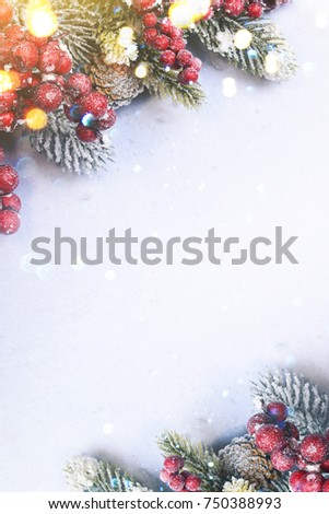 Christmas and New Year holidays background #750388993