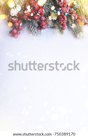 Christmas and New Year holidays background #750389170